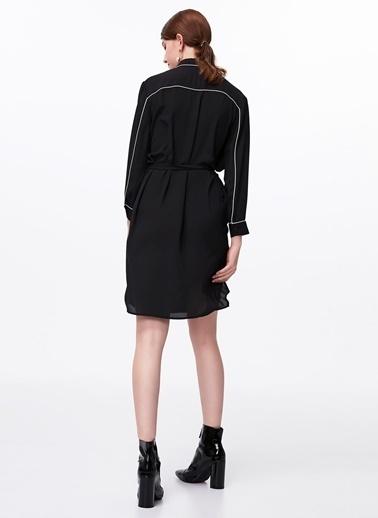 Ipekyol Biye Geçişli Color Block Elbise Siyah